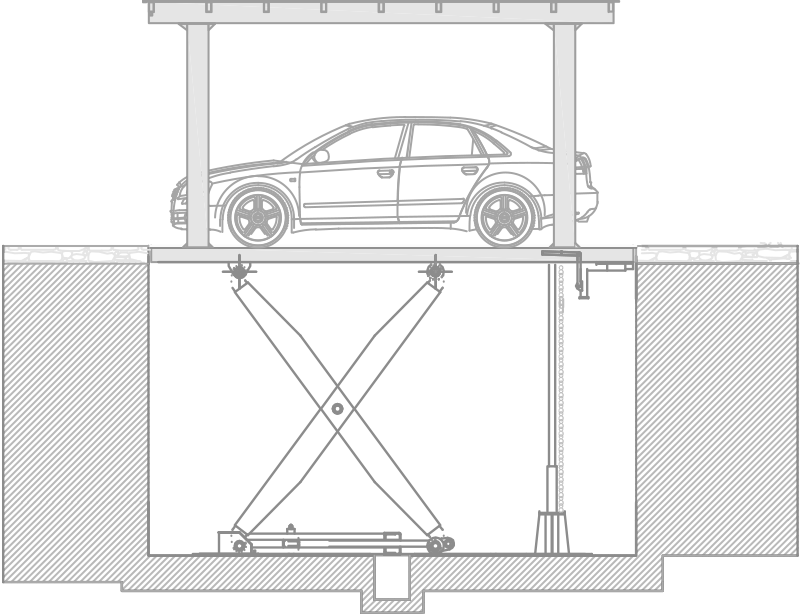 SPR Car Platform Lift Diagram